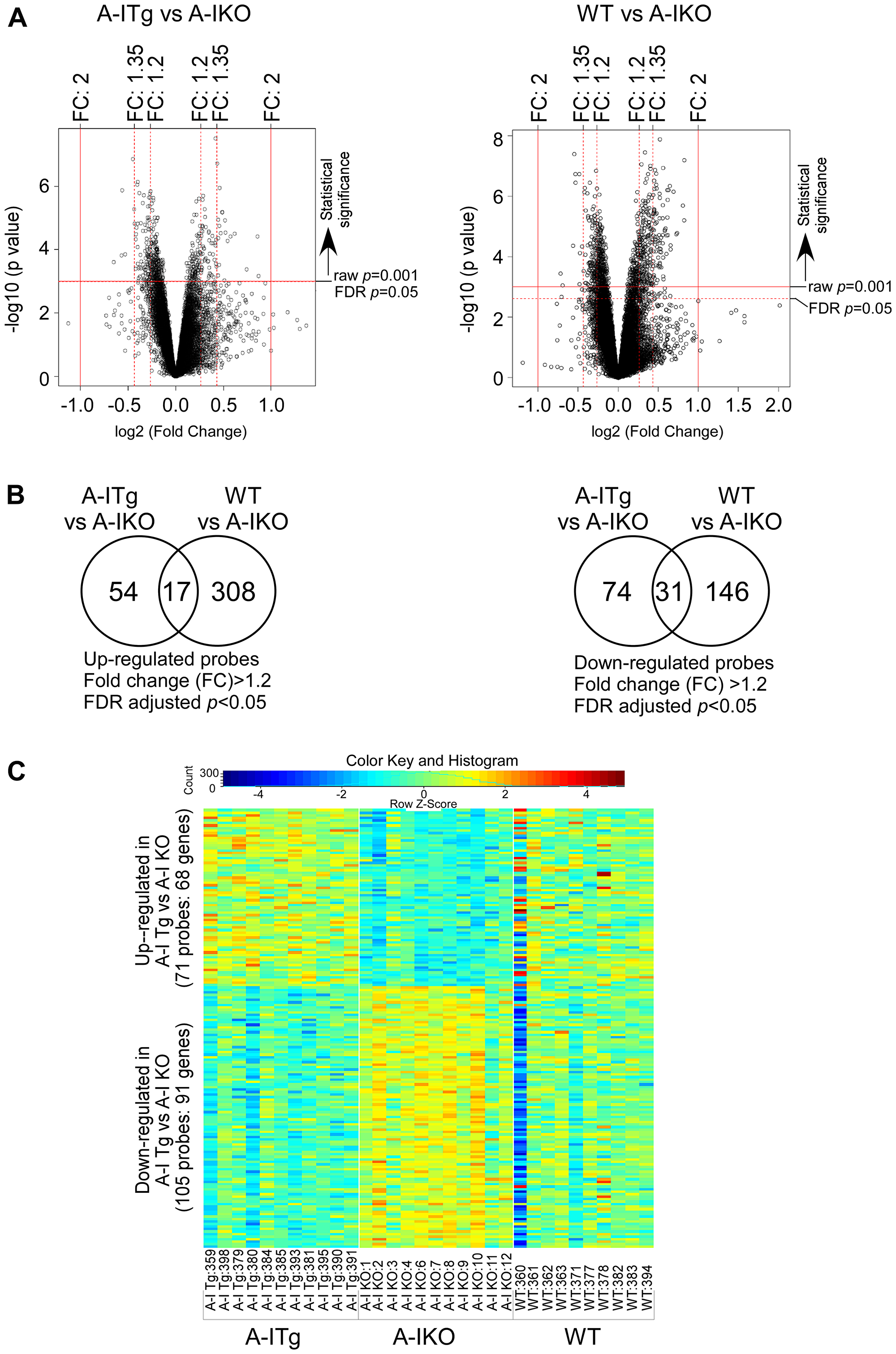 Identification of statistically significant transcripts from differential expression analyses.