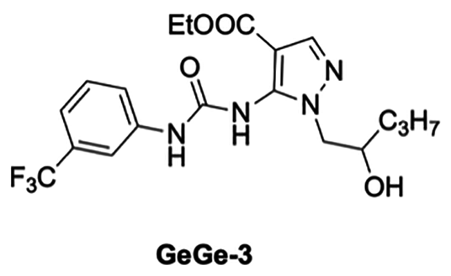 Chemical structure of previous anti-angiogenic compound GeGe3.
