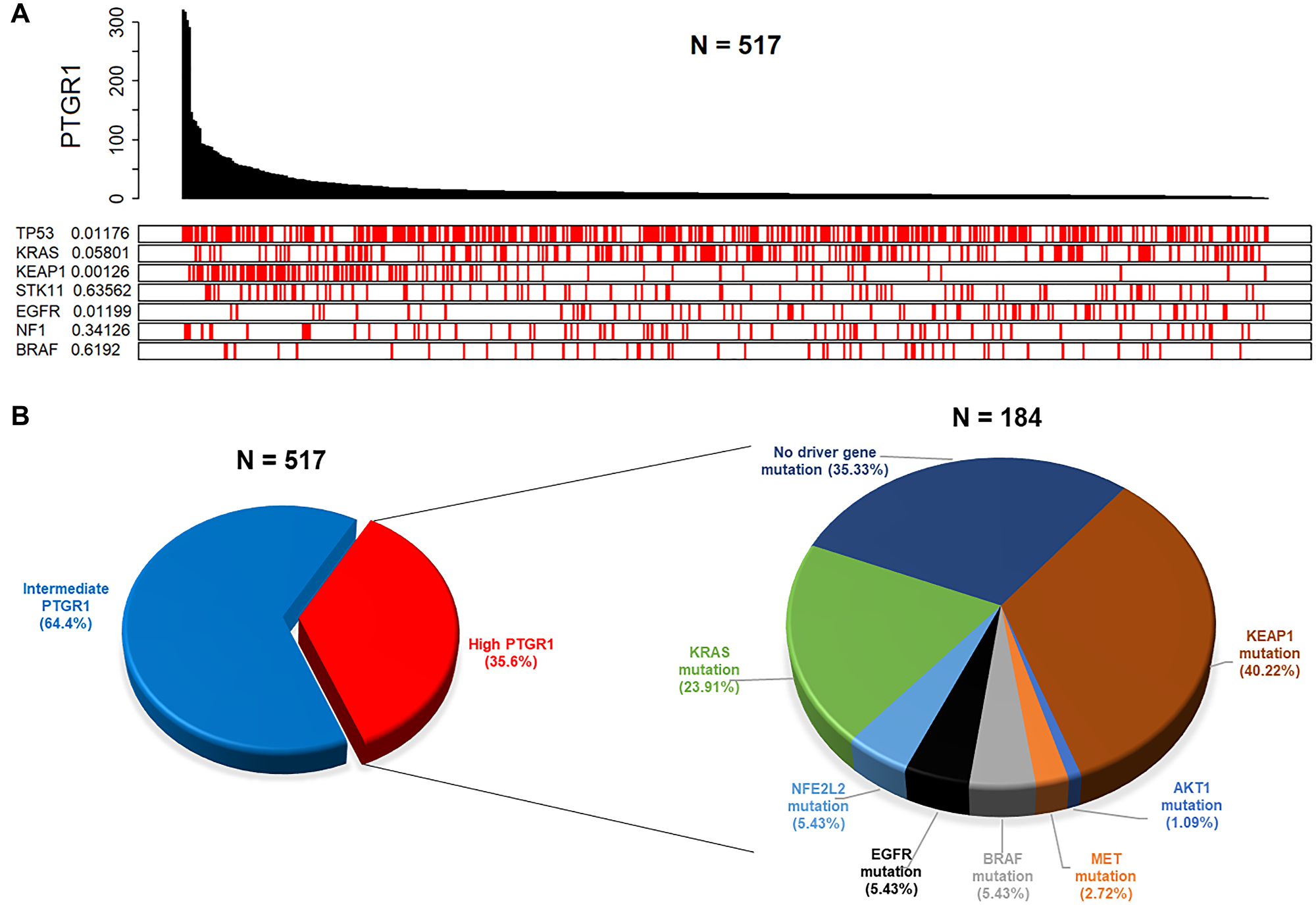 Clinical data analyses from TCGA reveal distinct patient subgroups with elevated PTGR1 that are likely to be predicted responders to LP-184.