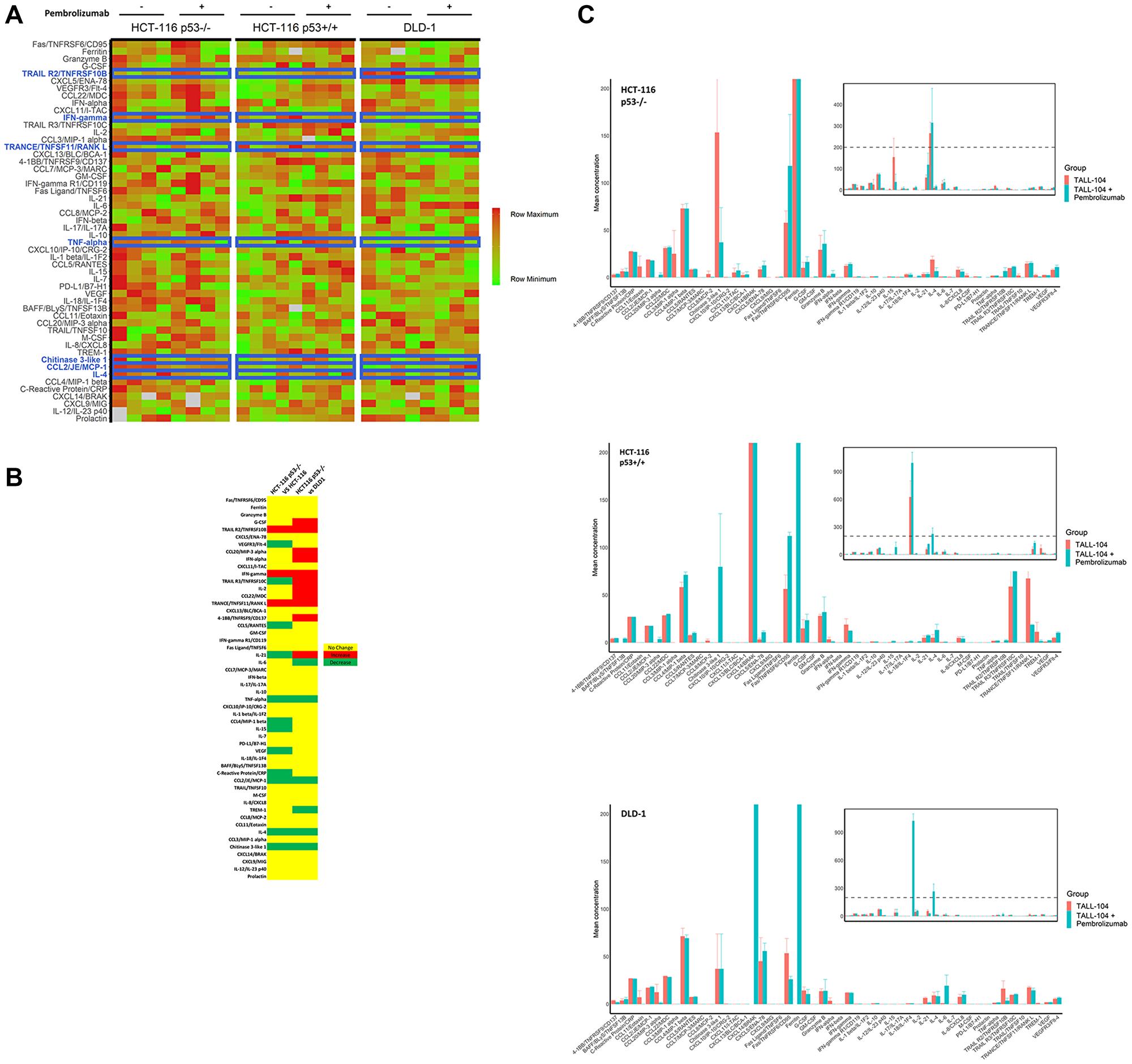 Cytokine profiling of peripheral blood in mice.