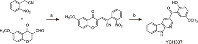The chemical structure and synthesis of YCH337.