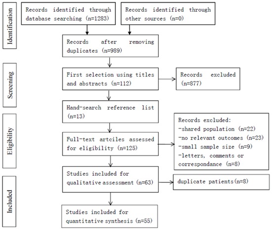 Flowchart of the included studies.