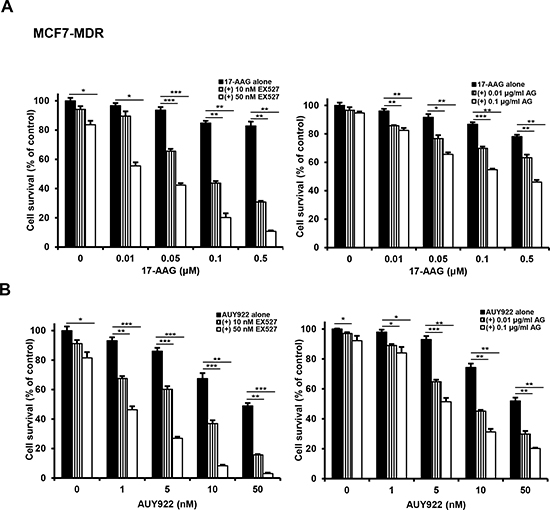 Potentiation of cytotoxicity of Hsp90 inhibitors in MCF7-MDR cells by SIRT1 inhibitors.
