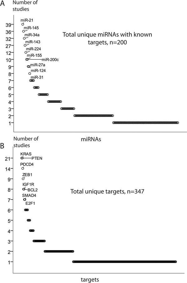 MiRNA regulation of target genes.
