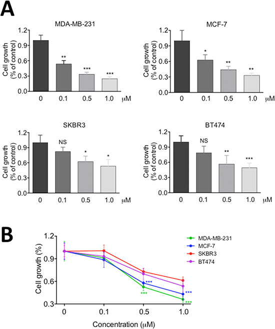 RY10-4 inhibits the proliferation of breast cancer cells.