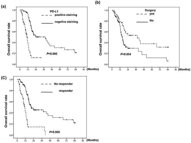 Correlation between PD-L1 level and clinical outcome.