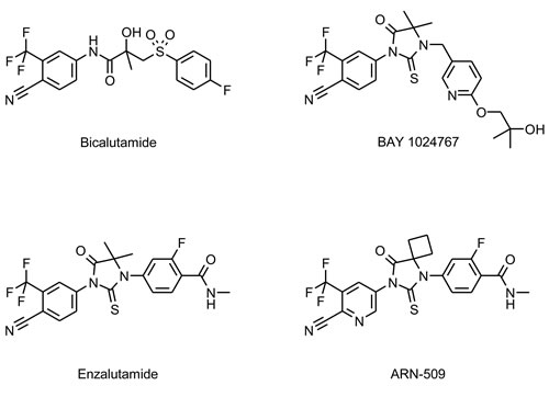 Chemical structures of the anti-androgens investigated.