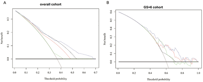 Decision analysis demonstrated ahigh net benefit across a wide range of threshold probabilities in
