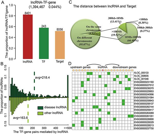 lncRNAs modulate transcriptional dysregulation in trans.