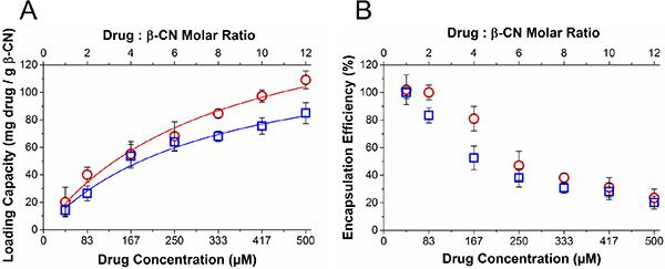 Drug loading capacity and encapsulation efficiency.