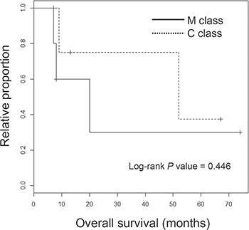 Survival analyses of ICC classes.