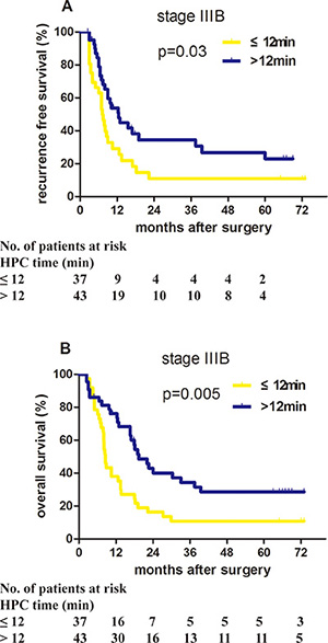 Proper HPC application benefited the prognosis of stage IIIB HCC patients in the validation cohort.