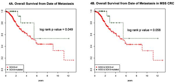 Survival curves of metastatic