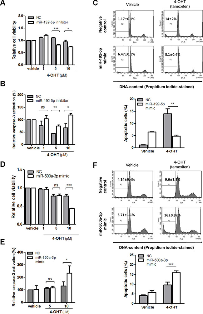 miR-192-5p and miR-500a-3p mediates tamoxifen sensitivity in breast cancer.