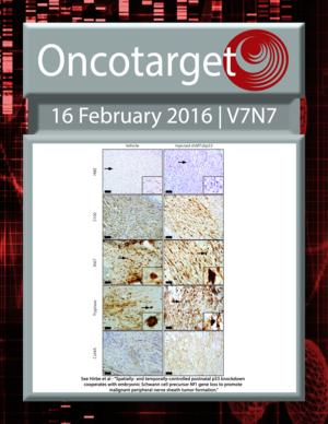 Journal Cover for Oncotarget V7N7