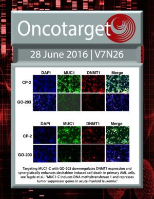 Journal Cover for Oncotarget V7N26