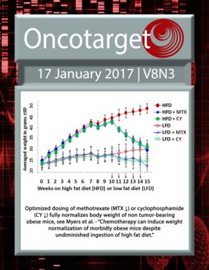 Journal Cover for Oncotarget V8N3