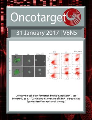 Journal Cover for Oncotarget V8N5