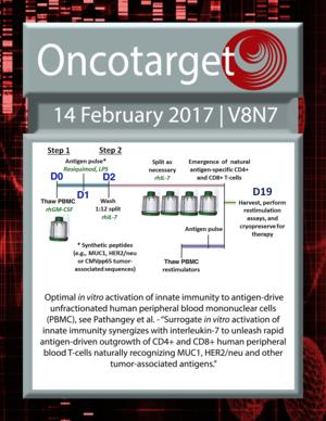 Journal Cover for Oncotarget V8N7