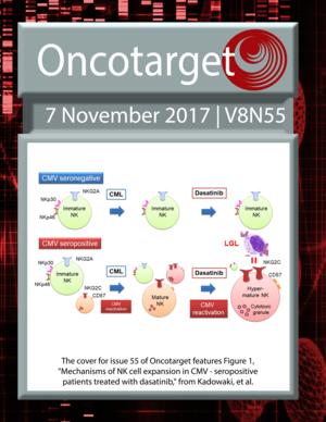 Journal Cover for Oncotarget V8N55