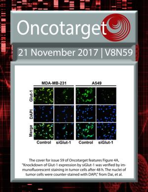 Journal Cover for Oncotarget V8N59