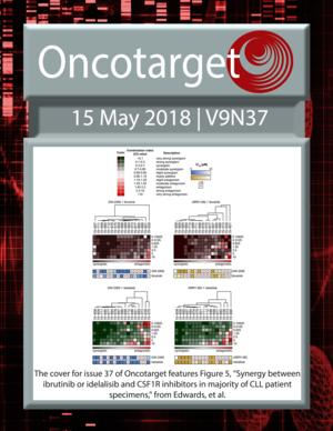 Journal Cover for Oncotarget V9N37