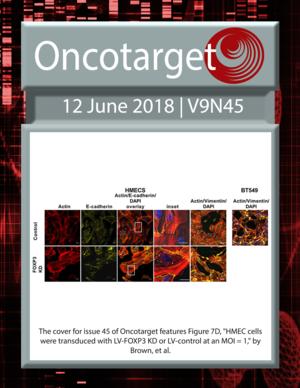 Journal Cover for Oncotarget V9N45
