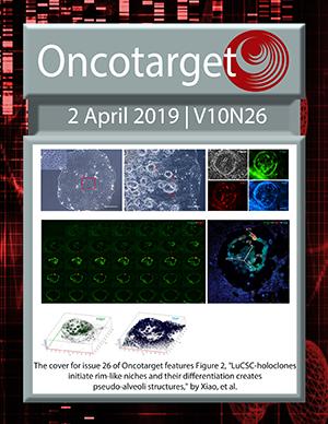 Journal Cover for Oncotarget V10N26