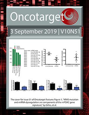 Journal Cover for Oncotarget V10N51