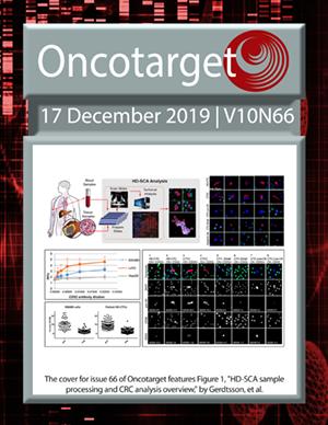 Journal Cover for Oncotarget V10N66