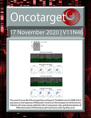 Journal Cover for Oncotarget V11N46