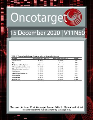 Journal Cover for Oncotarget V11N50