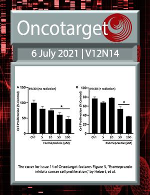 Journal Cover for Oncotarget V12N14