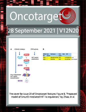 Cover for Oncotarget Issue V12N20