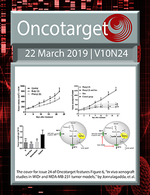 Oncotarget Current Issue Cover
