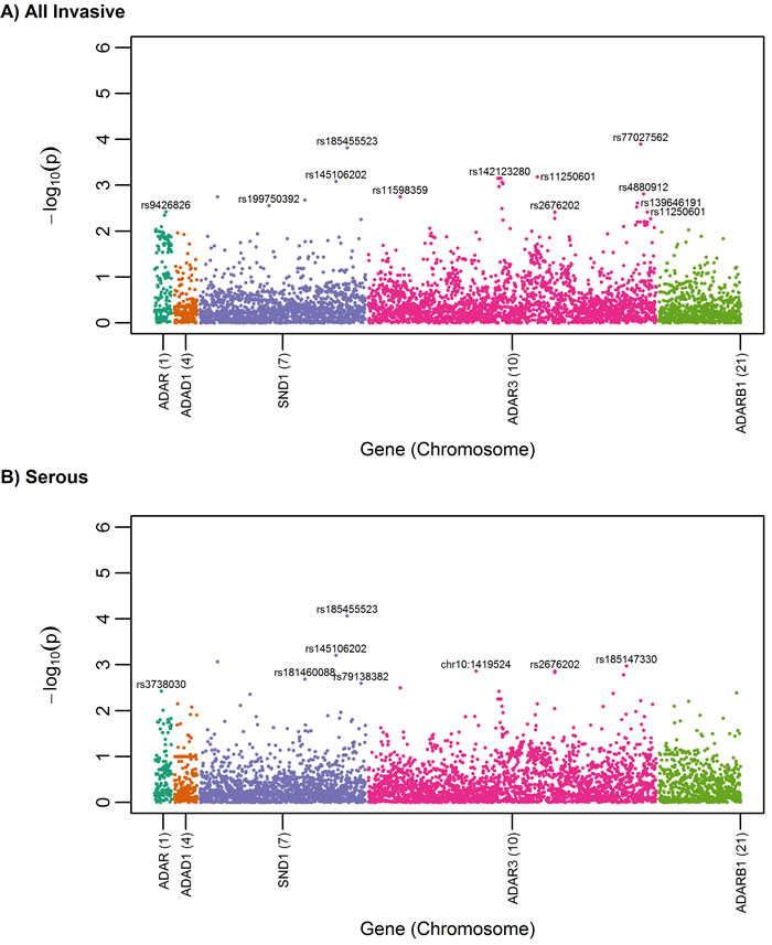 Oncotarget | Inherited variants affecting RNA editing may contribute
