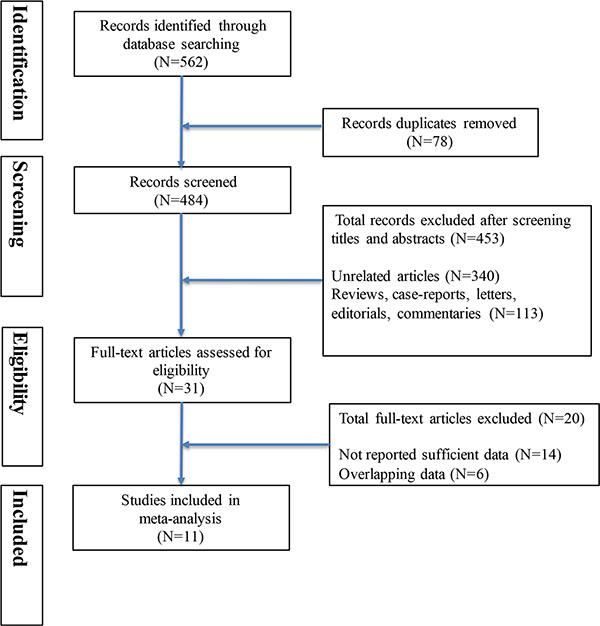 Flow diagram summarizing study identification and selection.