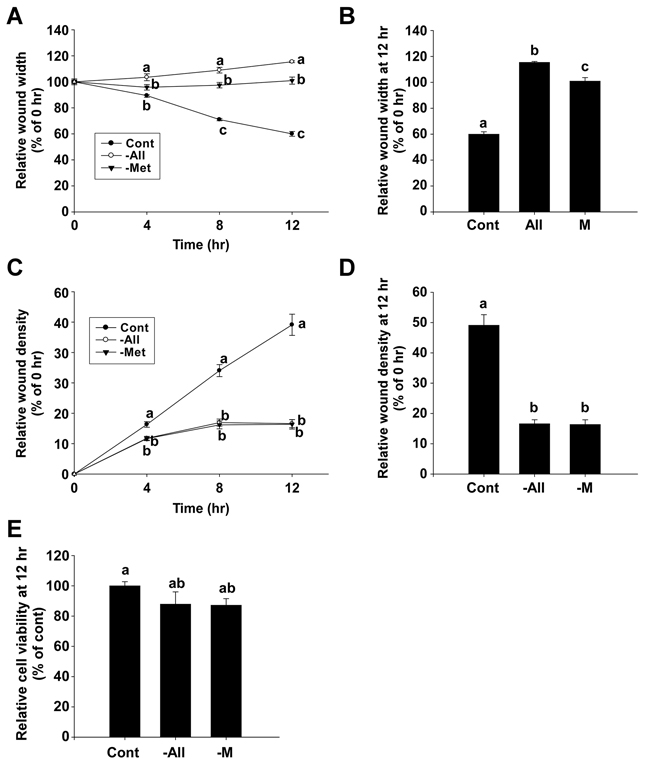 The inhibitory effect of methionine deprivation on migration and invasion of 4T1 cells.