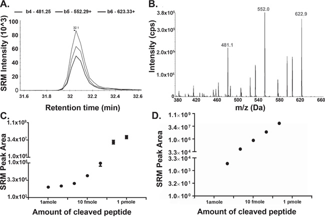 Detection of Cleaved Substrate Peptide by Mass Spectrometry.