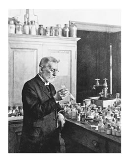 A portrait of Paul Ehrlich.
