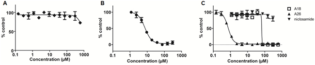 Fluorescence polarization (FP) assay measures affinity of STAT3 inhibitors for the SH2 domain.
