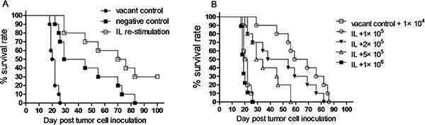 NK cells induced by in vivo IL pre-activation and re-stimulation prolongs survival of leukemia mice.