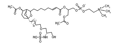 Structure of the marine compound siladenoserinol A.