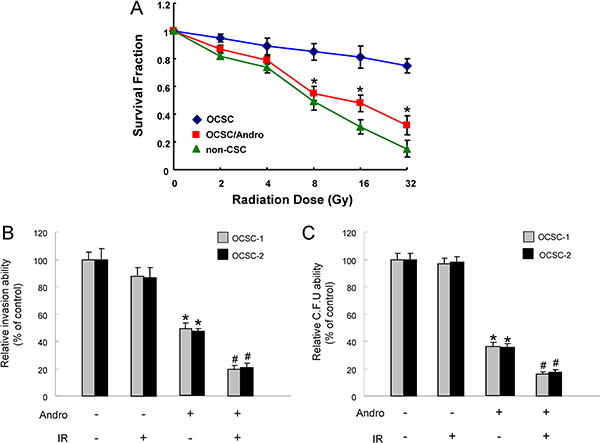 The effect of andrographolide on radio-sensitivity of OCSC