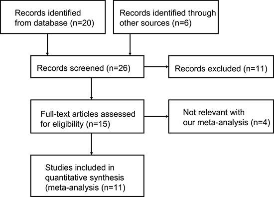 Flow diagram summarizing the selection of eligible studies.