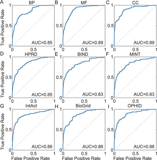 ROC curves for LOOCV analysis.