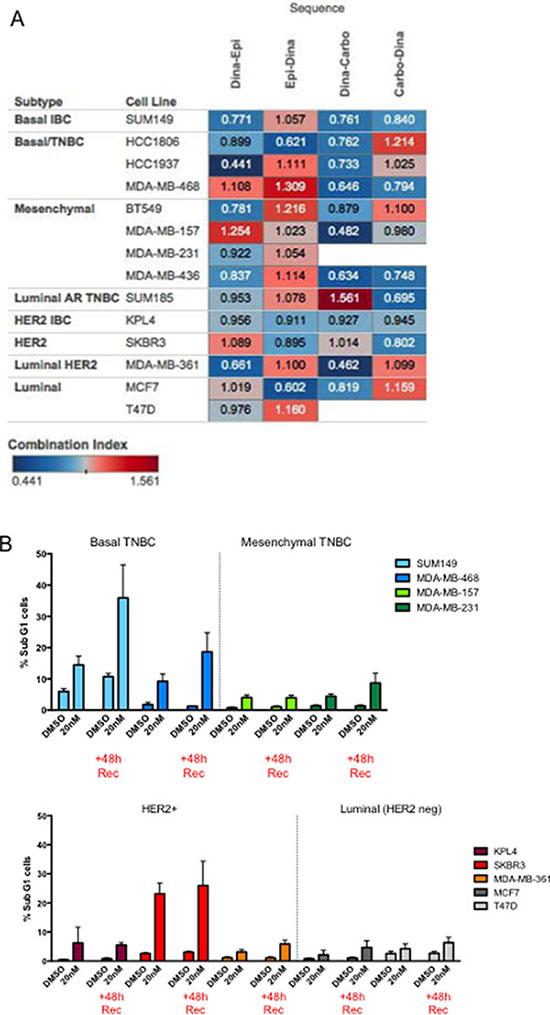 Predictors of response to dinaciclib/combination treatment.
