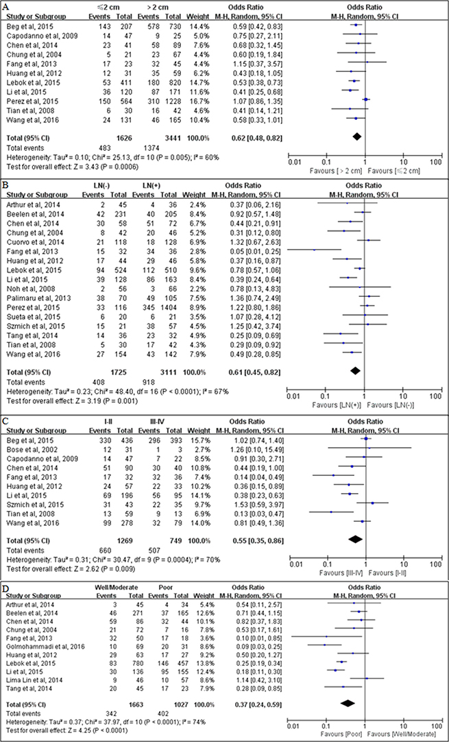 Associations between PTEN loss and clinicopathological parameters.