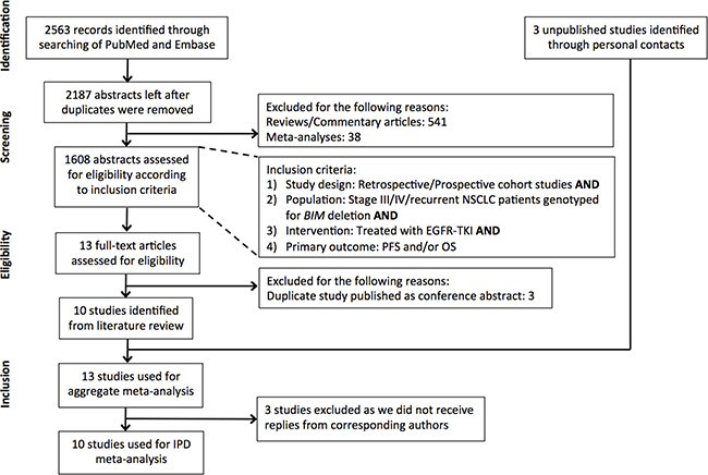 Flowchart of study identification, inclusion and exclusion.