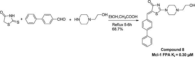 Scheme 1: Preparation of compound 8.